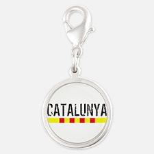 Catalunya Silver Round Charm