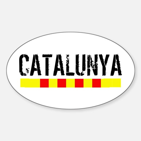 Catalunya Sticker (Oval)
