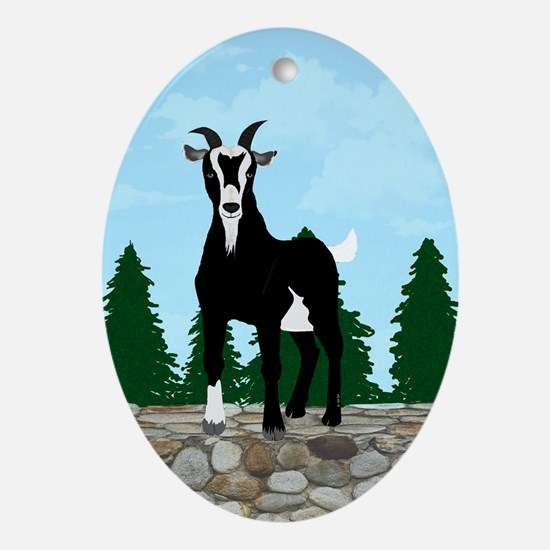 Billy Goat Gruff Ornament (oval)