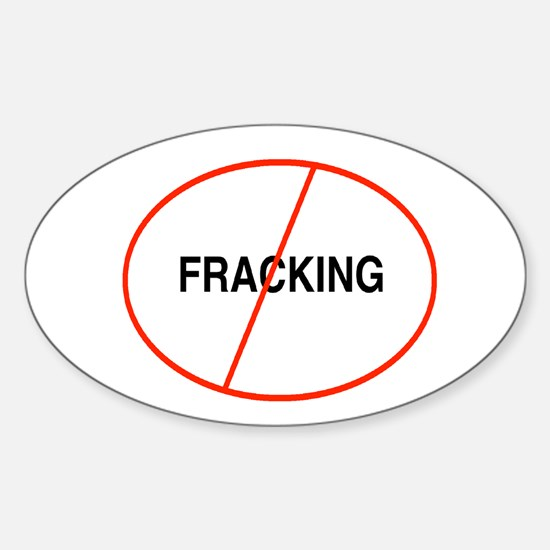 Oval No Fracking Bumper Stickers
