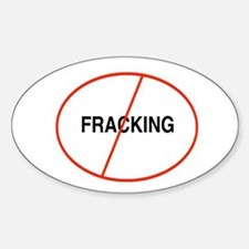 Oval No Fracking Decal