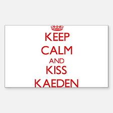 Keep Calm and Kiss Kaeden Decal
