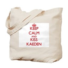 Keep Calm and Kiss Kaeden Tote Bag