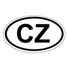 CZ Oval Decal