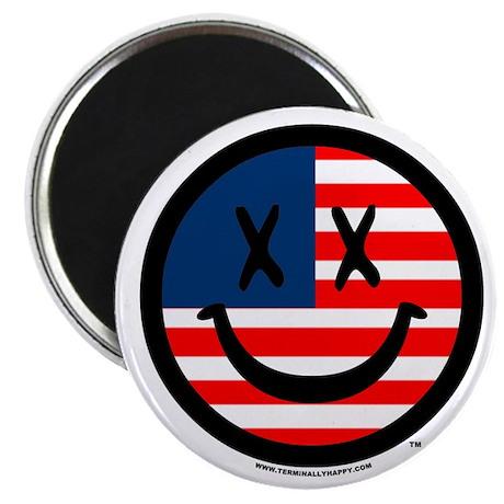 TERMINALLY HAPPY USA Magnet