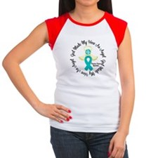 Ovarian Cancer Angel R Women's Cap Sleeve T-Shirt