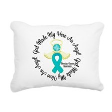 Ovarian Cancer Angel Ri Rectangular Canvas Pillow