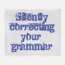 Your Grammar Throw Blanket