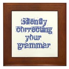 Your Grammar Framed Tile