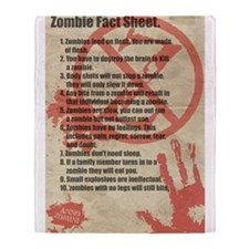 Zombie Facts Sheet Throw Blanket
