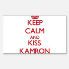 Keep Calm and Kiss Kamron Decal