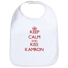 Keep Calm and Kiss Kamron Bib