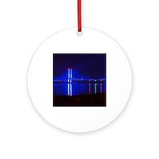 Indian River Bridge at Night Ornament (Round)
