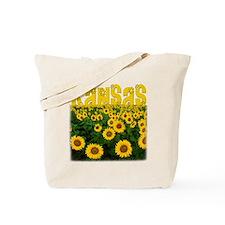 Kansas Sunflower Field Tote Bag