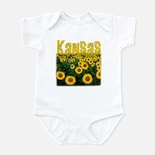 Kansas Sunflower Field Infant Bodysuit