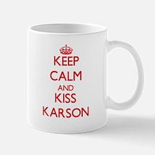 Keep Calm and Kiss Karson Mugs