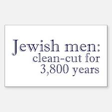 Jewish men: Rectangle Decal