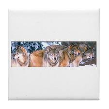 4 Wolves Tile Coaster