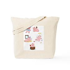 Cartoon Pigs Tote Bag