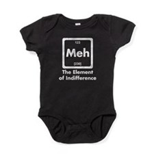 Meh The Element Of Indifference Baby Bodysuit