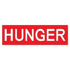 stop hunger Bumper Bumper Sticker
