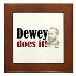 Dewey Does It! Framed Tile