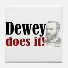 Dewey Does It! Tile Coaster