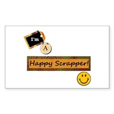 Happy Scrapper Rectangle Decal