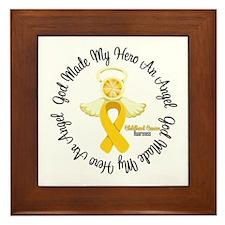 Childhood Cancer Angel Ribbon Framed Tile