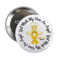 "Childhood Cancer Angel Ribbon 2.25"" Button"
