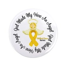 """Childhood Cancer Angel Ribbon 3.5"""" Button"""