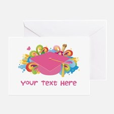 Graduation Hat Logo personalized Greeting Cards