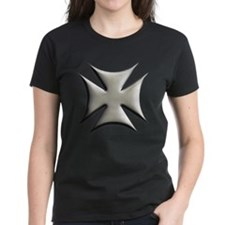 Titanium Chrome Biker Cross Tee