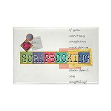 I love scrapbooking Rectangle Magnet