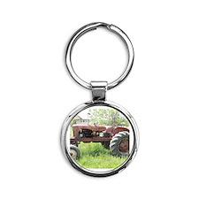 Tractor life Round Keychain