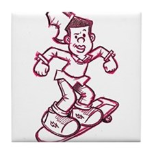 Skating Curtis Tile Coaster
