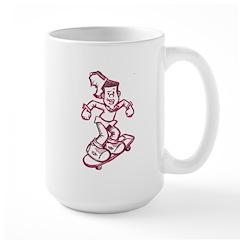 Skating Curtis Large Mug