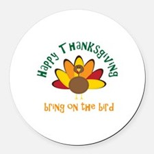 Happy Thanksgiving! Round Car Magnet