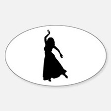 Reaching for stars Oval Decal