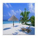 Tropical beach Drink Coasters