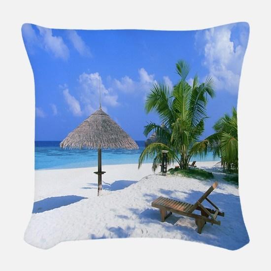 Beach Rest Woven Throw Pillow