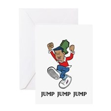Jump Jump Jump Greeting Card