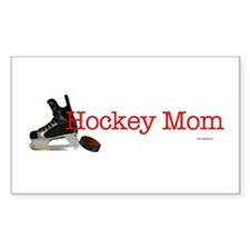 Hockey Mom Rectangle Decal