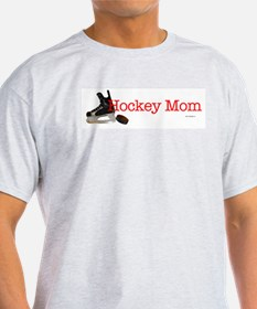 Hockey Mom Ash Grey T-Shirt