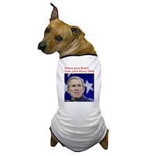 """Shave Your Bush"" Dog T-Shirt"