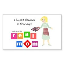 Mother doesn't shower Rectangle Decal