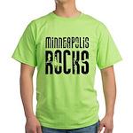 Minneapolis Rocks Green T-Shirt