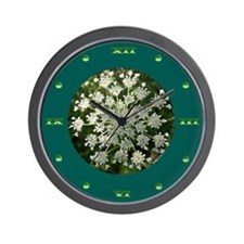 Medium Green Yarrow Wall Clock