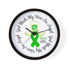 Bile Duct Cancer Angel Ribbon Wall Clock