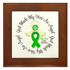 Bile Duct Cancer Angel Ribbon Framed Tile